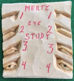 Mertz Eye Study by Wood Bee Carver Holzschnitzen – Holzbearbeitung Foam Carving, Wood Carving Faces, Dremel Wood Carving, Wood Carving Designs, Wood Carving Patterns, Wood Carving Art, Wood Art, Wood Bees, Wood Carving For Beginners