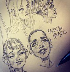 Of bed cartoon drawings, cool drawings, face drawings, Art Drawings Sketches, Cartoon Drawings, Cool Drawings, Cartoon Art, Face Drawings, Pretty Art, Cute Art, Arte Sketchbook, Drawing Reference Poses