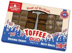 Always looking for a reason to celebrate, Walker's Nonsuch, England's finest toffee maker has launched a limited edition, Duo Hammer Pack, for the 2012 celebrations of the Queen's Diamond Jubilee and the London Olympics.  Flying the union jack buntings, and in true patriotic colours, the gimmick Duo hammer packs are the perfect gift.