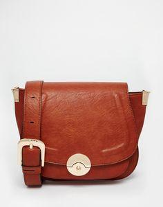 Image 1 ofDune Delphine Winged Saddle Bag in Tan