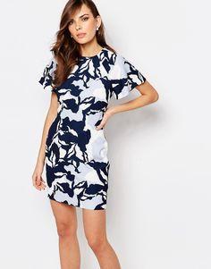 Bild 1 von Keepsake – Gemustertes Kleid mit Fledermausärmeln
