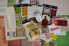 November's Lucky in Love Kit - 2010    little black dress kit club scrapbook