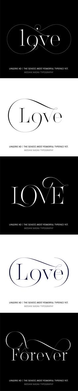 Love Forever. Designed with Lingerie XO Typeface by Moshik Nadav Typography. www.moshik.net