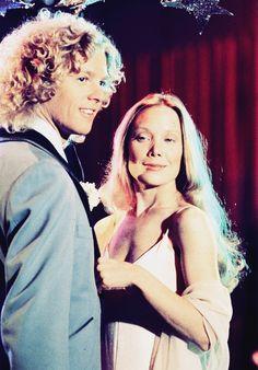 William Katt and Sissy Spacek in Carrie, 1976
