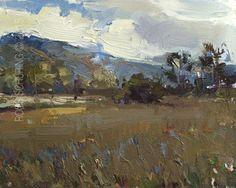 New Blog Post: http://rosepleinair.com/hills-and-trees/ Light Effect Hills and Trees California On one of the last days here Carole took us to a favorite Nature Park of hers. (Don't know the name.) Here I've simplified the grass area and made it into a shade area to accentuate the light. Of course there was shade (but not all of the time:... View More at: http://rosepleinair.com #California, #Carmel, #Hills, #Light, #Painting, #PleinairPainting, #Roosschuring, #Tr