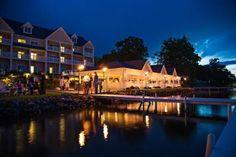 Bay Pointe Inn Lakefront Pavilion at night