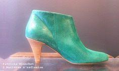 #PatriciaBlanchet #green #boots #PL55 @Mati Salva Salvaères à rélfexion