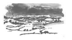 Quick sketch of the Tillingham Valley in the rain