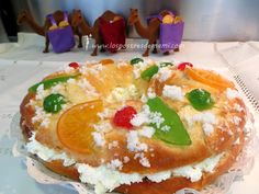 Roscón de Reyes. No te pierdas la receta paso a paso en el blog, y además con video explicativo muy facilito
