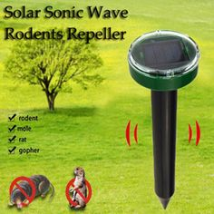 Buy Solar Power Eco-Friendly Ultrasonic Gopher Mole Snake Mouse Pest Reject Pest Repeller Bug Repellents & Pest Control Garden Supplie at Wish - Shopping Made Fun Mice Control, Bug Control, Pest Control, Control Panel, Mole Repellent, Cockroach Repellent, Mole Rat, Taupe, Mosquitos