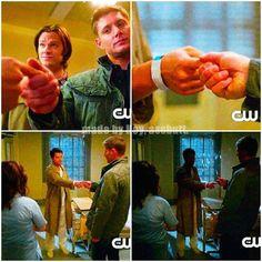 Supernatural loved this scene Pull my finger - castiel