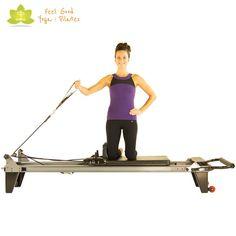 pull across pilates reformer exercise start position