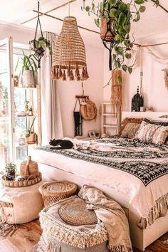 Home Interior Salas .Home Interior Salas Bohemian Bedroom Decor, Boho Room, Bohemian Style Rooms, Modern Bohemian, Boho Chic, Awesome Bedrooms, Beautiful Bedrooms, Bedroom Door Design, Estilo Hippie