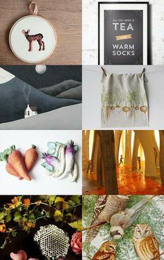 Tea and warm socks... by Imogen Wilson on Etsy-- https://www.etsy.com/shop/findimogenwilson
