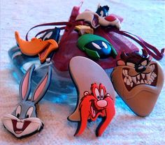 1997 WARNER BROS 3 D LOONEY TUNES PINS LOT OF 6 Bugs, Taz, Daffy, Marvin... RARE