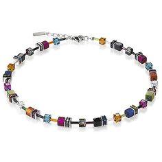 Cat Eye Necklace - Multicolored - Coeur De Lion Jewelry $215