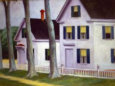 """Edward Hopper, """"Two Puritans"""" Oil on Canvas From """"Largest selection of works by Edward Hopper opens at Museo Thyssen-Bornemisza"""" Gregory Crewdson, American Realism, American Artists, Christophe Jacrot, Edward Hopper Paintings, Ashcan School, Social Realism, Belle Villa, Museum"""