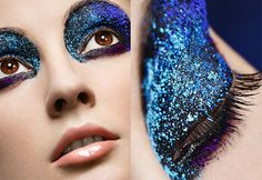 """Glitter Eyeshadow, for Carnaval, custom parties, and if you add """"ONLY A LITTLE"""" a touch of glamour to your night makeup"""