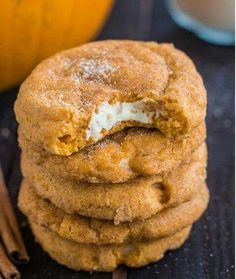 Pumpkin Cream Cheese Snikerdoodle Cookie