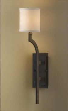 Living Room, Front Window - x2 - Murray Feiss Stelle WB1470ORB Wall Fixture - 4.75W in. - Oil Rubbed Bronze modern wall sconces