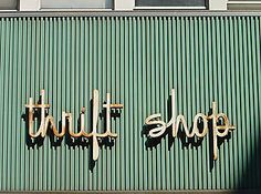 Vintage Thrift Store Sign