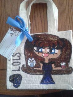 Lois Small Jute Bags, Burlap, Reusable Tote Bags, Hessian Fabric, Jute, Canvas