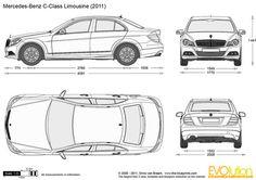 Mercedes-Benz C-Class Limousine vector drawing Mercedes W114, Mercedes Benz Cars, Broly Ssj4, Dragon Tattoo Vector, M Benz, Paper Car, C Class, Car Sketch, Car Drawings