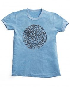 Block-Printed T-Shirt - Embellish a plain t-shirt by block-printing it with paint and a trivet or other design.