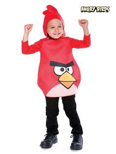 Toddler Angry Birds Red Birds Costume Angry Birds Halloween Costume, Angry Birds Costumes, Clever Halloween Costumes, Bird Costume, Cheap Halloween, Costume Shop, Halloween Gifts, Halloween Ideas, Creative Costumes