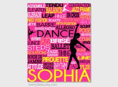 Dance Typography Art Print Perfect for Girl's Room by twenty3stars, $10.00