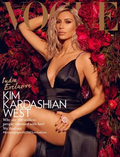 Kim Kardashian landed herself another major magazine cover. The reality star graced the pages of Vogue India for the first time ever with the March 2018 issue. Robert Kardashian, Khloe Kardashian, Kardashian Kollection, Kim Kardashian Magazine, Kim Kardashian Photoshoot, Kris Jenner, Kendall Jenner, Vogue India, Vogue Magazine Covers