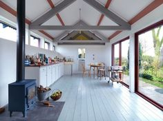 zero carbon, wood-fired stove, solar power, photovoltaic panels, PV Panels, rainwater harvesting, vernacular architecture, green design, sustainable design, eco-design, England, Threefold Architects, art, design, sustainable design, The Long Studio