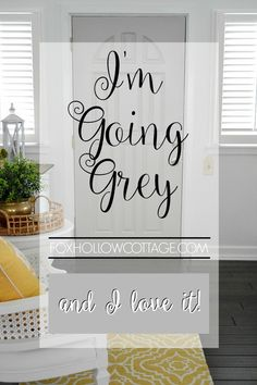 Cottage DIY: Get a Fresh Look with a New Interior Door Color, Like this Grey One. Add Fun Colors and Accessories and Your Space Will Feel Brand New!