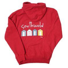 Southwold Beach Hut Hoodie - Chilli Red