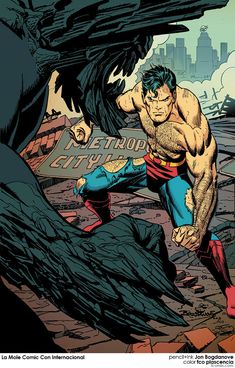 Doomsday x Superman -- Pencil and ink by Jon Bogdanove with color by fco plascencia - La Mole Comic Con Internacional Marvel Comics, Action Comics 1, Arte Dc Comics, Marvel Dc, Superman Comic, Batman, Superman Doomsday, Superman Artwork, Superhero Superman
