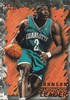 1996-97 fleer hardwood leader larry johnson basketball card