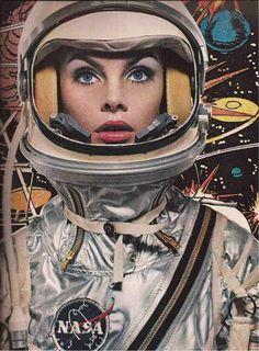 COOL: Jean Shrimpton as an astronaut by Richard Avedon for Harper's Bazaar, 1965 Richard Avedon, Jean Shrimpton, Art Pulp, Comics Illustration, Space Girl, Space Age, Annie Leibovitz, Science Fiction Art, Science Space