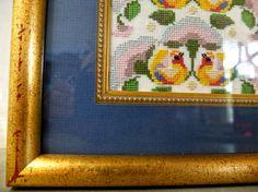 Framed embroidery / Bjorn Wiinblad tapestry by 1001Artforms