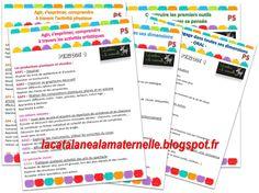 Progressions PS et MS (programmes Blog Page, Programming, Bullet Journal, Classroom, School, Cycle 1, Ms Gs, Clowns, Weather Kindergarten