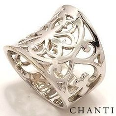 Wide ring in silver