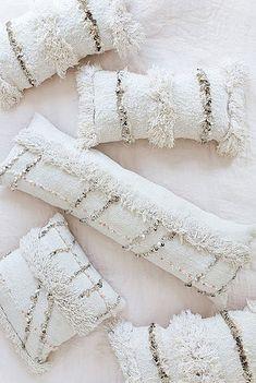 Moroccan Wedding Blanket Pillow Bolster Pillow by LoomAndField Boho Cushions, Diy Pillows, Decorative Pillows, Throw Pillows, Moroccan Wedding Blanket, Moroccan Home Decor, Bohemian Girls, Sequin Pillow, Bolster Pillow