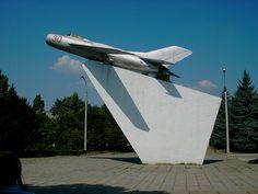 Monument to military pilots in Tiraspol,   Moldavia