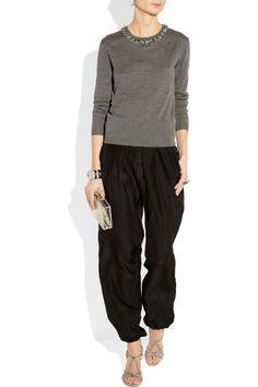 Lanvin Genie silk-satin pants NET-A-PORTER.COM