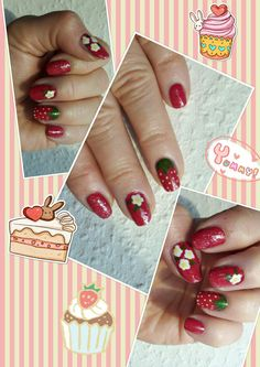 Nail design strawberry Erdbeer   Android  https://play.google.com/store/apps/details?id=com.roidapp.photogrid  iPhone  https://itunes.apple.com/us/app/photo-grid-collage-maker/id543577420?mt=8   Context | Request Context
