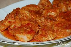 Roast pork in garlic sauce, baked - Moldovan Friptura or Pork Stew