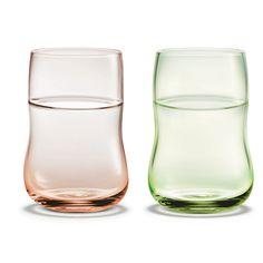 Future Glass, Rosa/Grønn 25 cl, 2-pack, Holmegaard