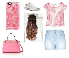 """""""Summer outfit"""" by laurenflynn23 on Polyvore featuring City Chic, Calypso St. Barth, Converse, Casetify and Fendi"""