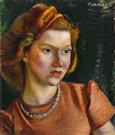 """Heward painted mothers independently of children, such as in this painting of her niece. """"Ann,"""" 1942, National Gallery of Canada."""