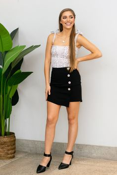#BOSSIN all day long, looking fresh and fabulous in our Black Mini skirt. Stretchy material was chosen to ensure 100% comfort and a fitted style. Hustle all day and Evolve into a badass at night!    Model wears size small  Product Description:  Back zip Faux button down Asymmetric Extra stretch black fabric Synthetic South African Shop, Small Waist, Boss Babe, Black Fabric, Stretchy Material, Leather Skirt, Short Dresses, Mini Skirts, Product Description