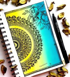 Mandala Doodle, Mandala Canvas, Mandala Artwork, Doodle Art Drawing, Dark Art Drawings, Mandala Drawing, Mandala Art Therapy, Mandala Art Lesson, Dibujos Zentangle Art